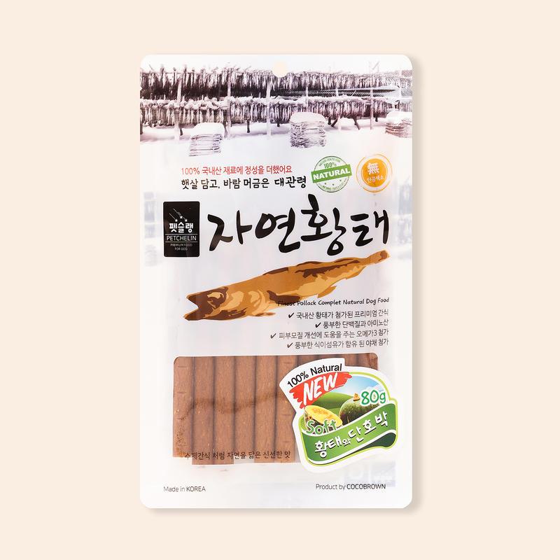 [1+1] 펫슐랭 대관령 자연황태 황태&단호박 80g