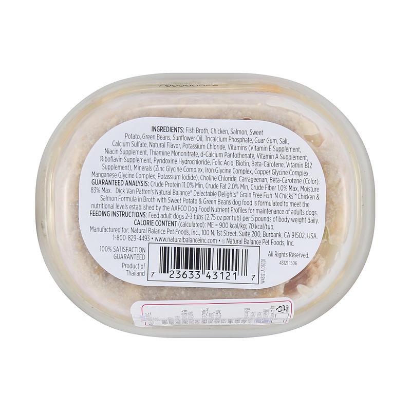 내추럴발란스 수제 스튜 닭고기&연어 캔 78g