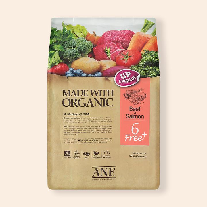 ANF 유기농 6Free 플러스 소고기&연어 1.8kg