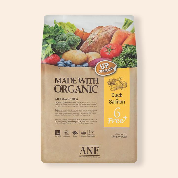 ANF 유기농 6Free 플러스 오리고기&연어 1.8kg