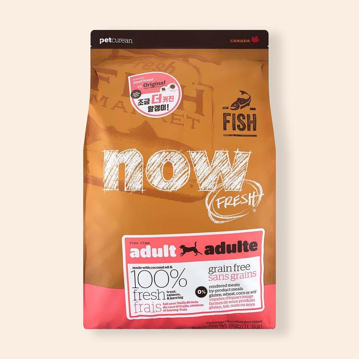 now 그레인프리 피쉬 어덜트 올브리드 11.3kg