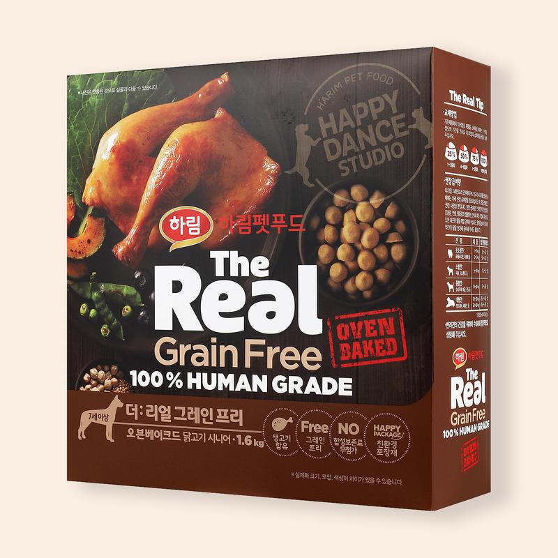 하림펫푸드 더리얼 그레인프리 오븐베이크드 닭고기 시니어 1.6kg