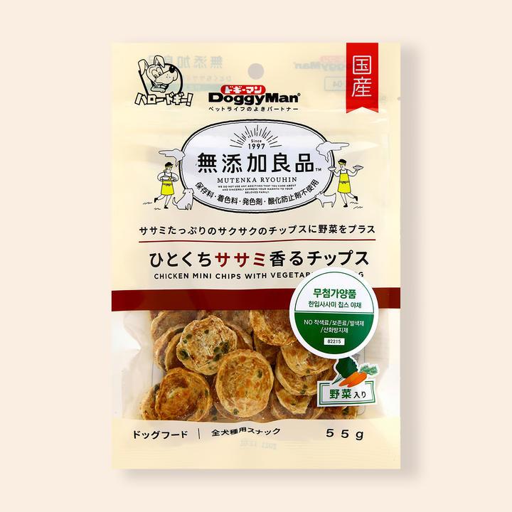 도기맨 무첨가양품 한입사사미 칩스 야채 55g