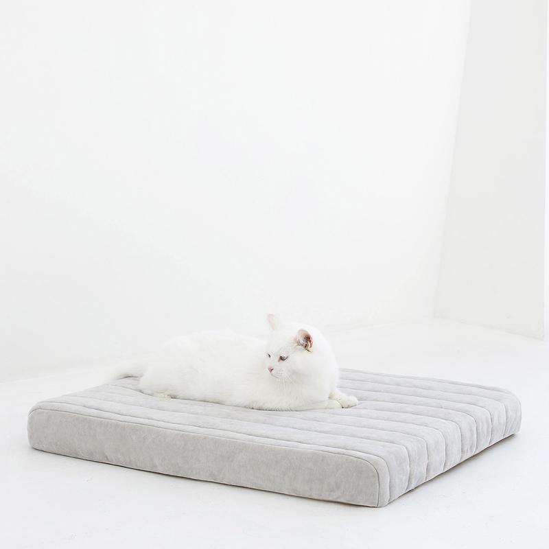무아유 벨로아침대 올리브그레이 + 라운드프레임 세트