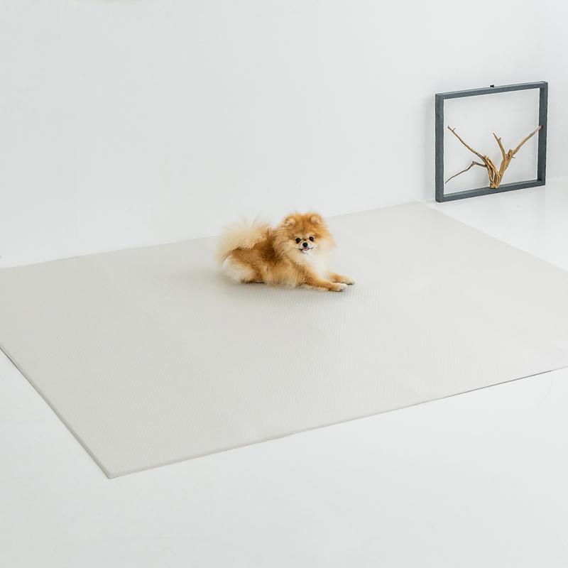 디팡 펫플레이매트 러그타입 젤리 라이트 그레이 4mm