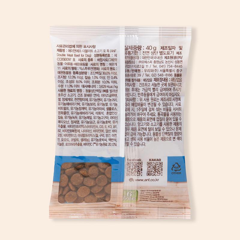 ANF 더블미트 소고기 포 독 40g