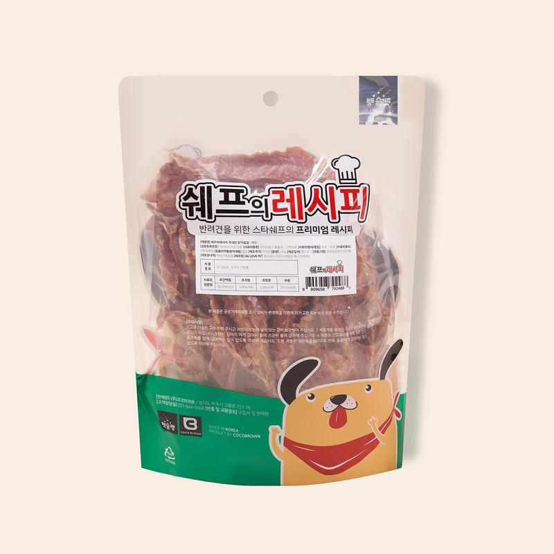 펫슐랭 쉐프의레시피 국내산 닭가슴살 하드 540g