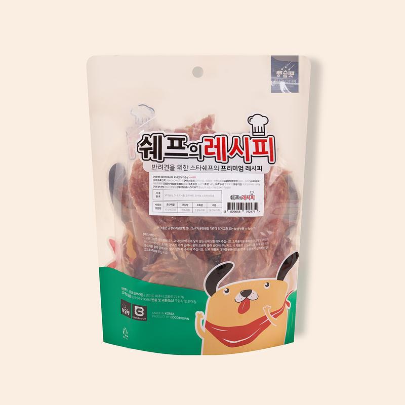 펫슐랭 쉐프의레시피 국내산 닭가슴살 소프트 540g
