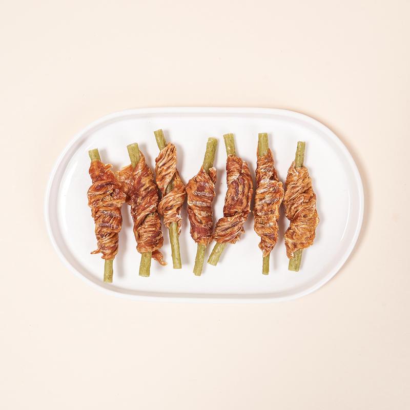 펫슐랭 쉐프의레시피 국내산 콜라겐 닭가슴말이 브로콜리 54개입
