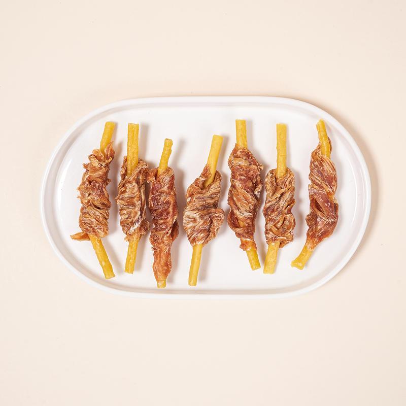 펫슐랭 쉐프의레시피 국내산 콜라겐 닭가슴말이 단호박 54개입