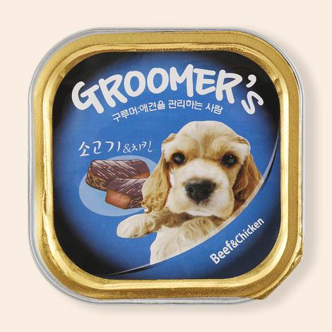구루머스 소고기&닭고기 캔 100g