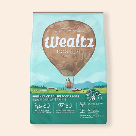 웰츠 독 오리 2.1kg
