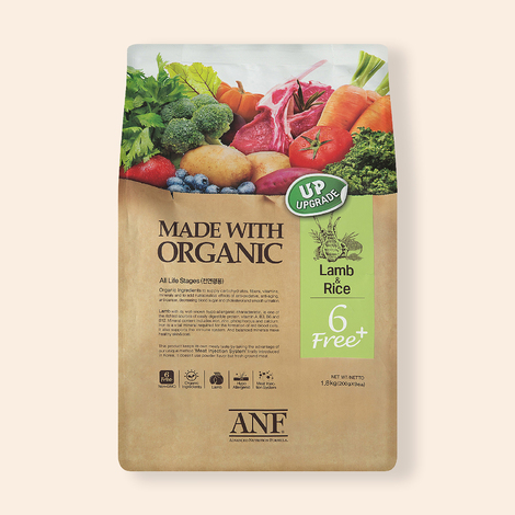 ANF 유기농 6Free 플러스 양고기&쌀 1.8kg