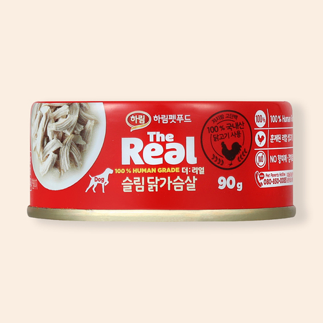 하림펫푸드 더리얼 슬림 닭가슴살 캔 90g