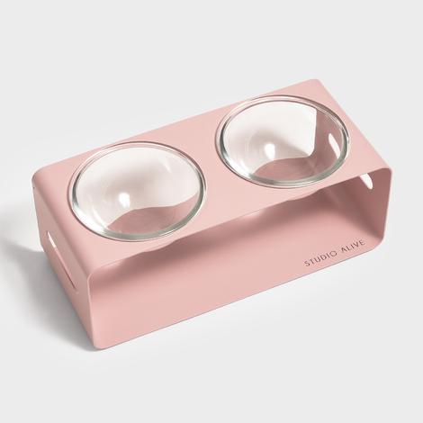 스튜디오얼라이브 달빛식기2 핑크 식기 2구