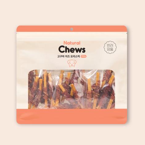 [2+1] 반려양품 고구마 치즈 오리스틱 210g