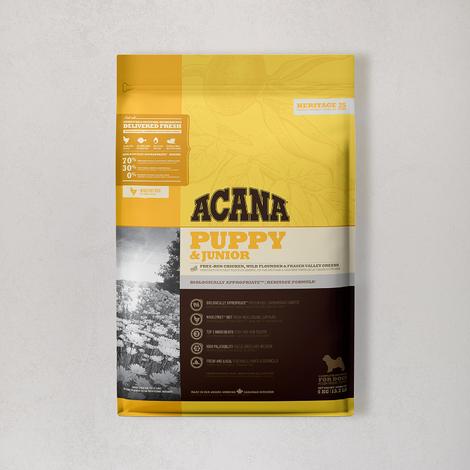 아카나 헤리티지 퍼피 앤 주니어 독 6kg (오리젠 오리지널 340g 증정)
